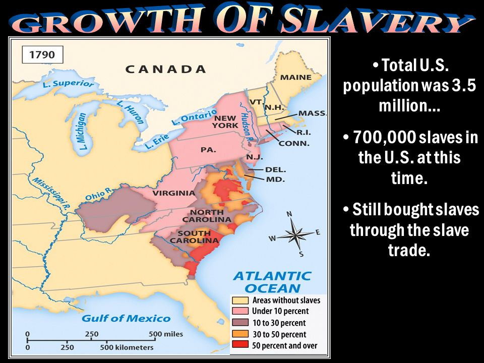 GROWTH OF SLAVERY Total U.S. population was 3.5 million…