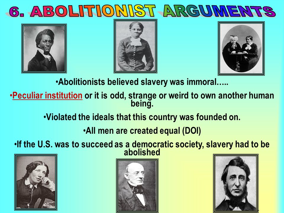6. ABOLITIONIST ARGUMENTS