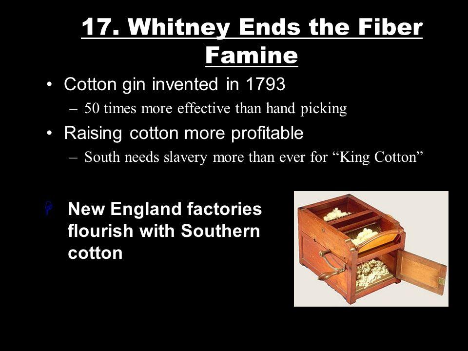 17. Whitney Ends the Fiber Famine