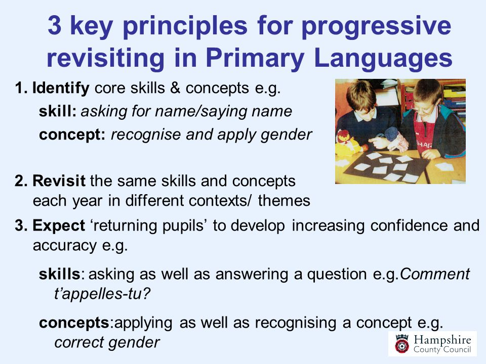 3 key principles for progressive revisiting in Primary Languages