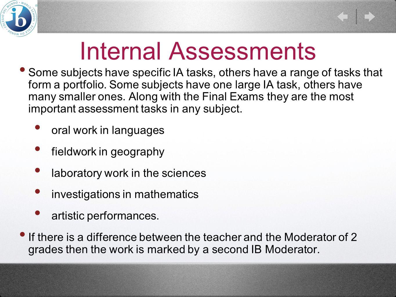 Internal Assessments