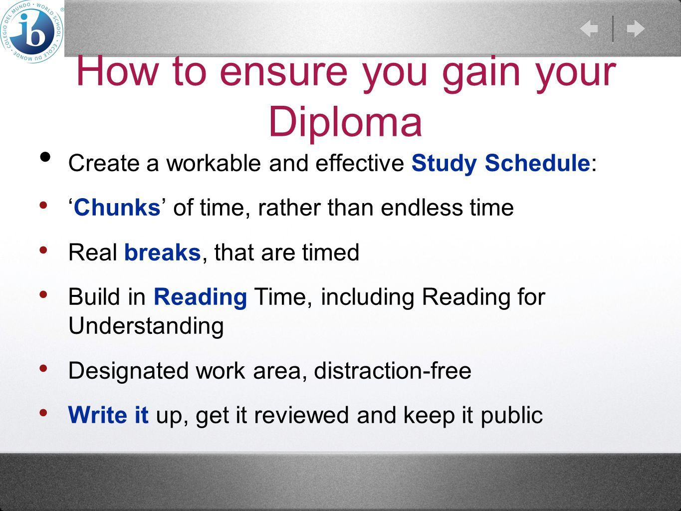 How to ensure you gain your Diploma