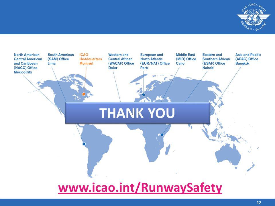 THANK YOU Add Chinese translation www.icao.int/RunwaySafety