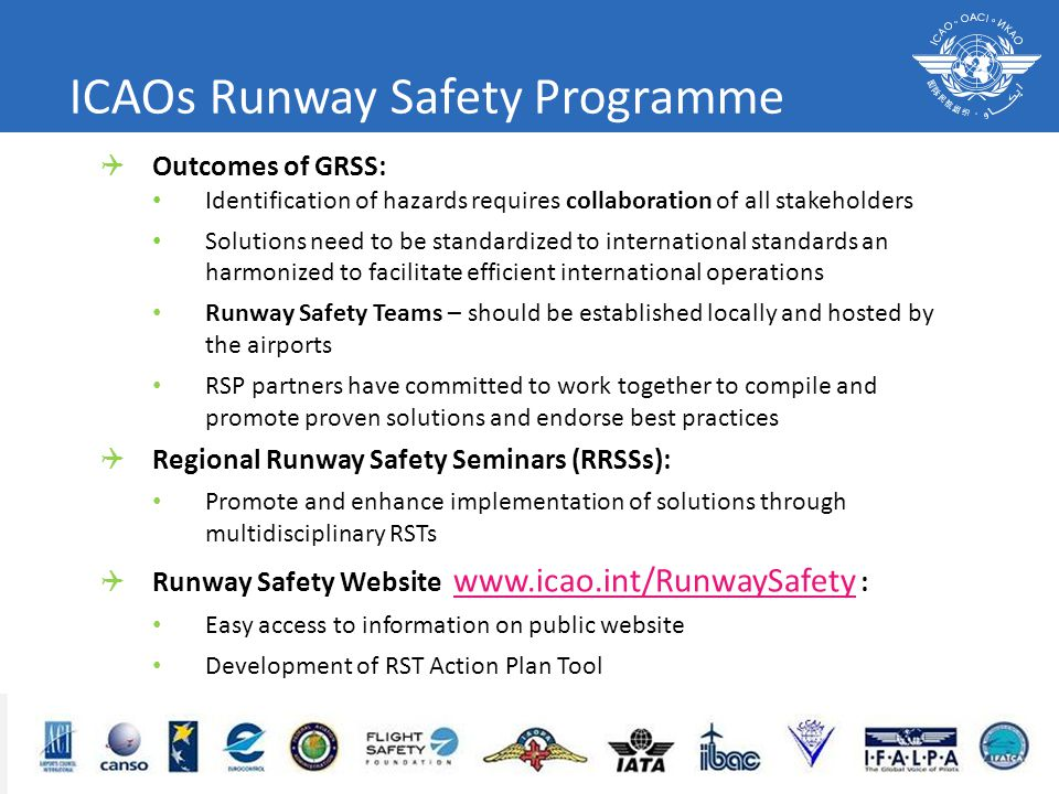 ICAOs Runway Safety Programme