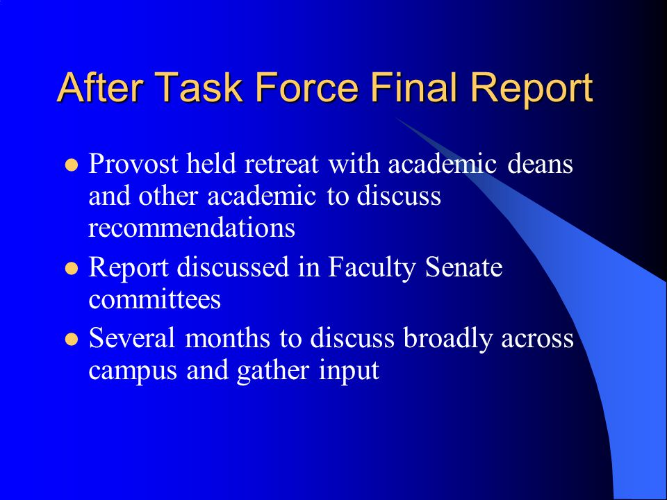 After Task Force Final Report