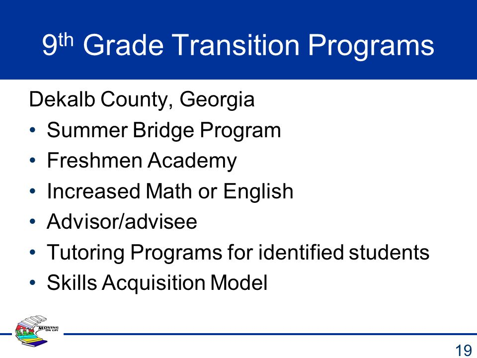 9th Grade Transition Programs
