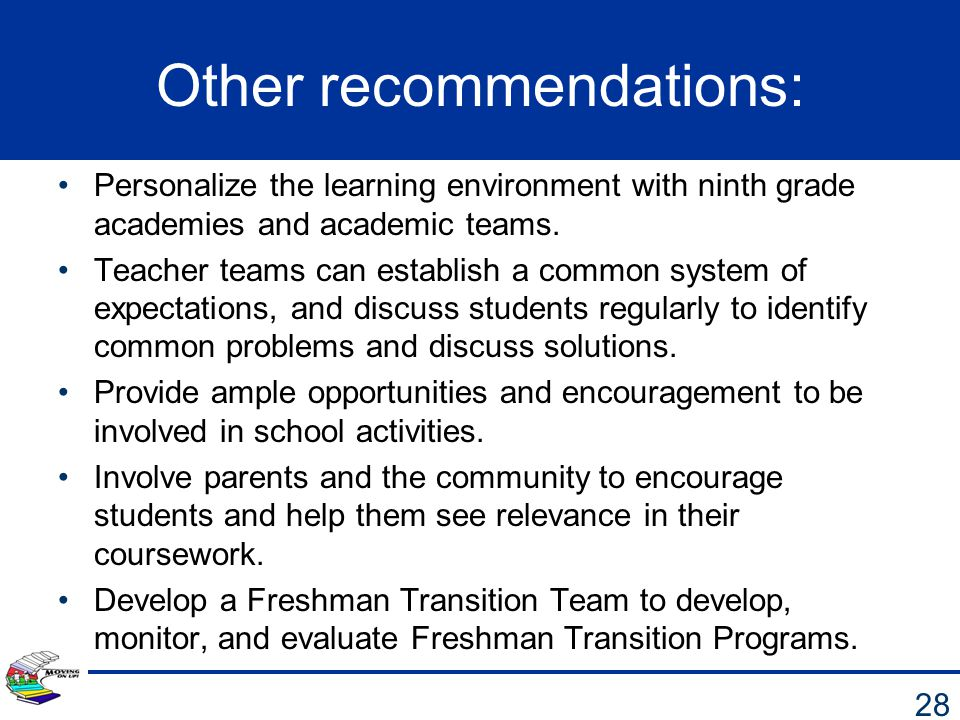 Other recommendations: