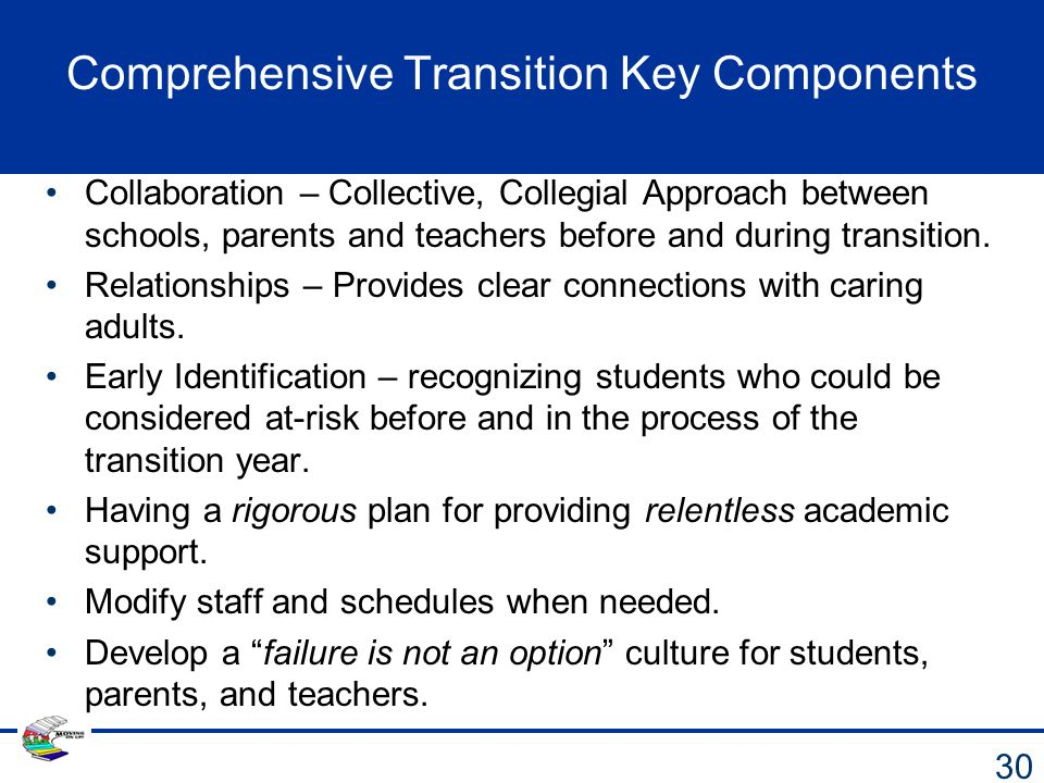 Comprehensive Transition Key Components