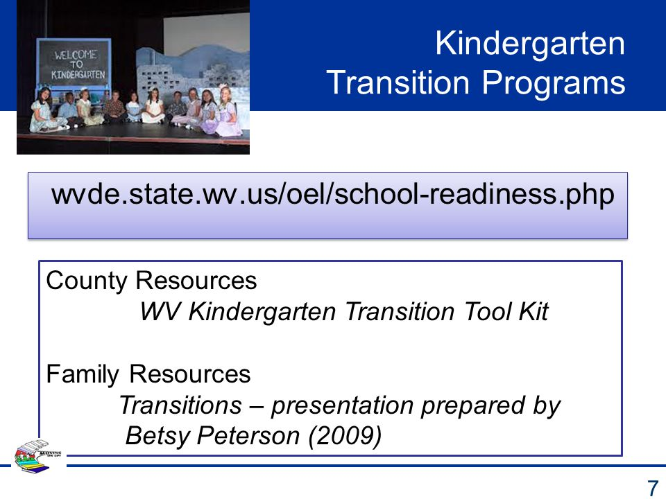 Kindergarten Transition Programs