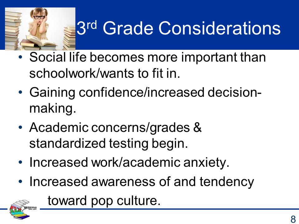 3rd Grade Considerations
