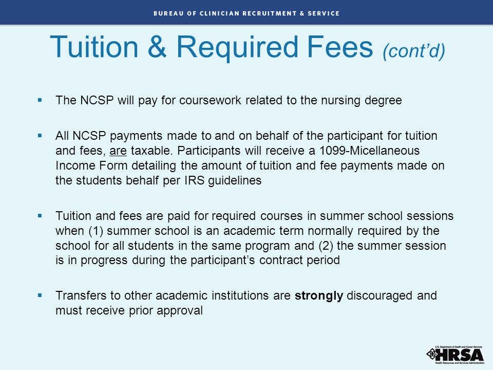 Tuition & Required Fees (cont'd)