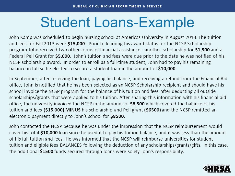 Student Loans-Example