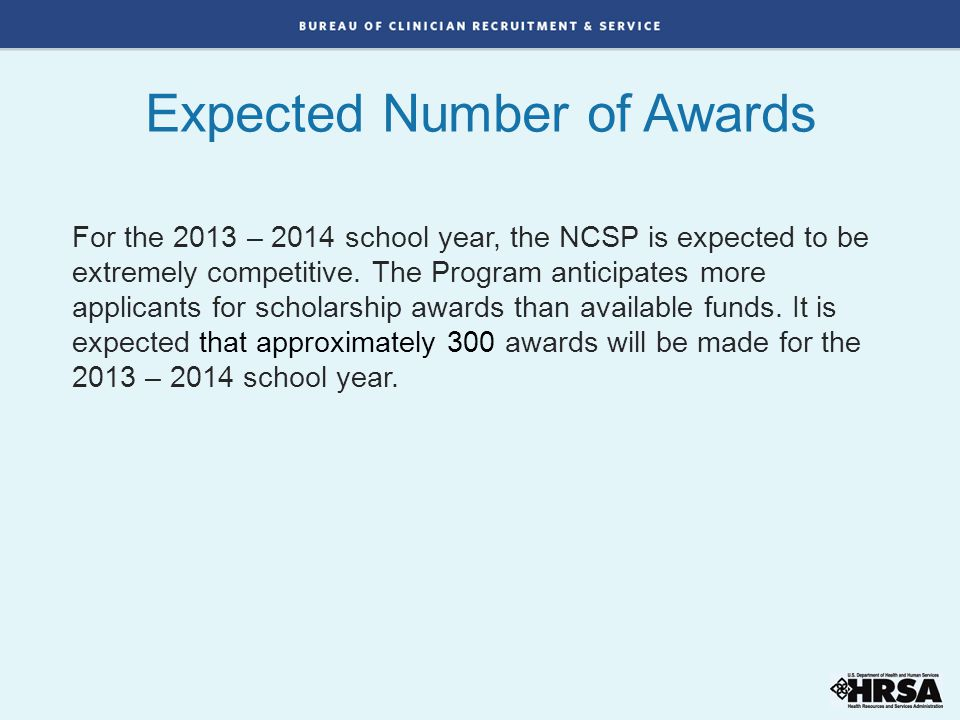 Expected Number of Awards