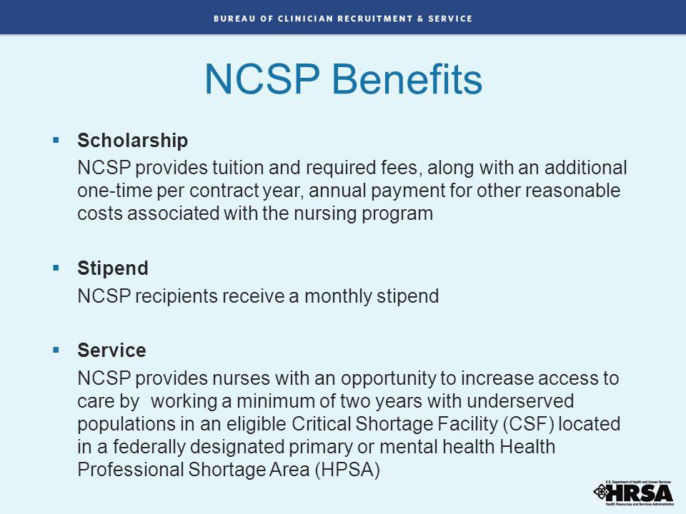 NCSP Benefits Scholarship