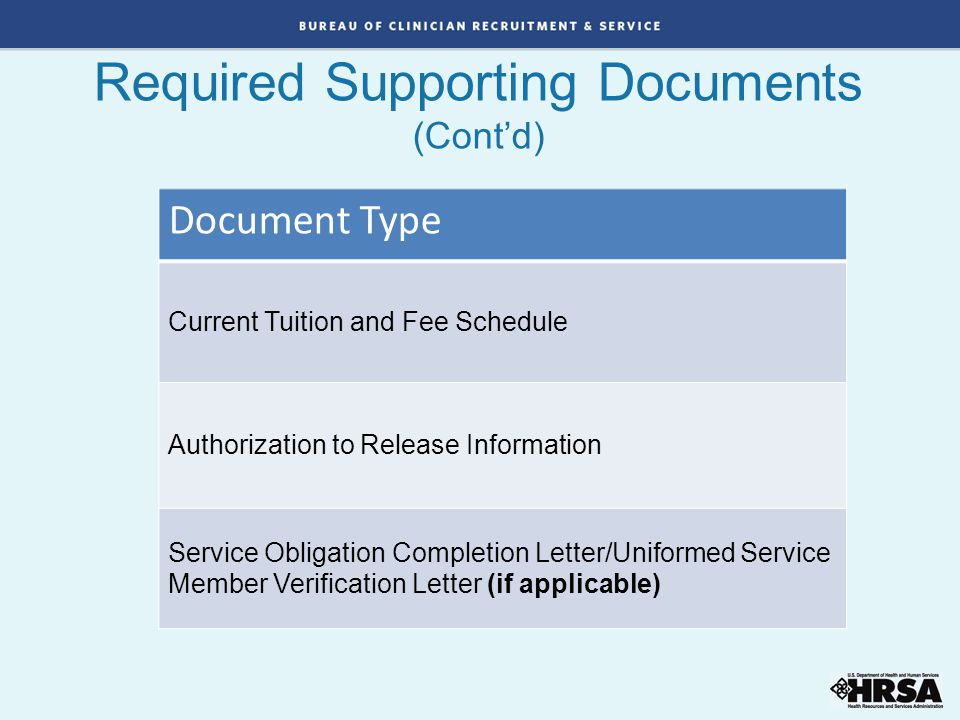 Required Supporting Documents (Cont'd)