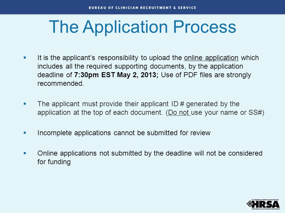 The Application Process