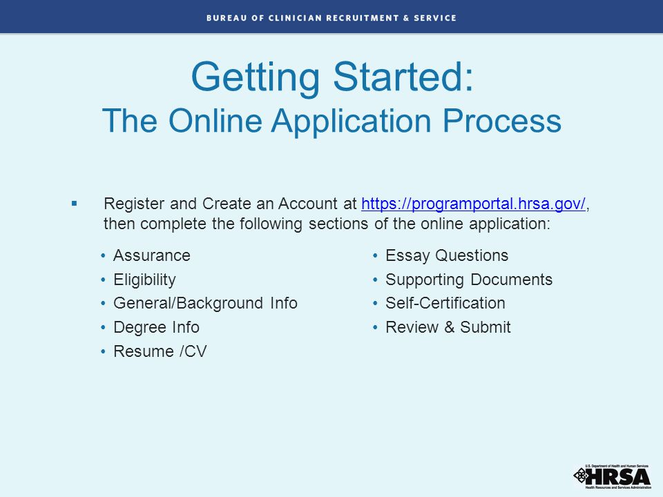 Getting Started: The Online Application Process