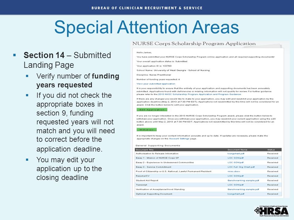 Special Attention Areas