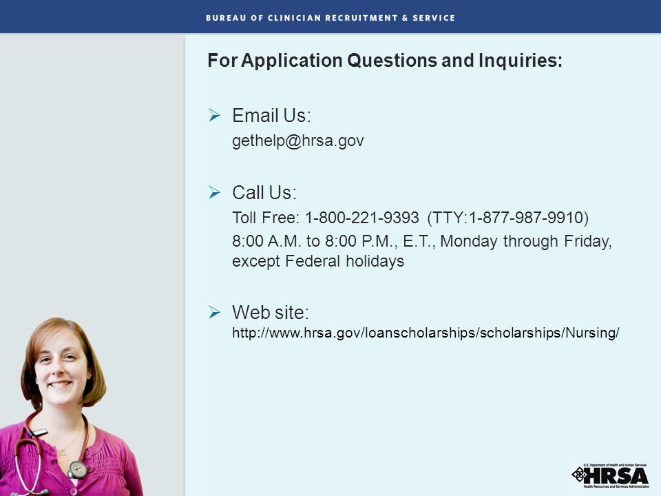 For Application Questions and Inquiries:
