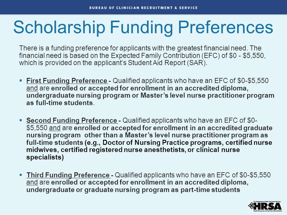 Scholarship Funding Preferences