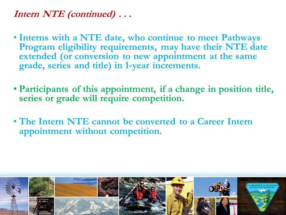 Intern NTE (continued) . . .