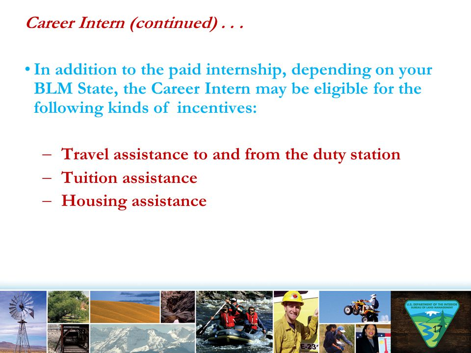 Career Intern (continued) . . .