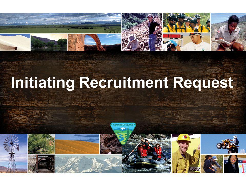Initiating Recruitment Request