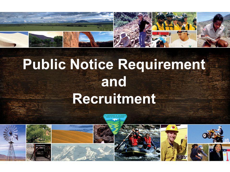 Public Notice Requirement and Recruitment