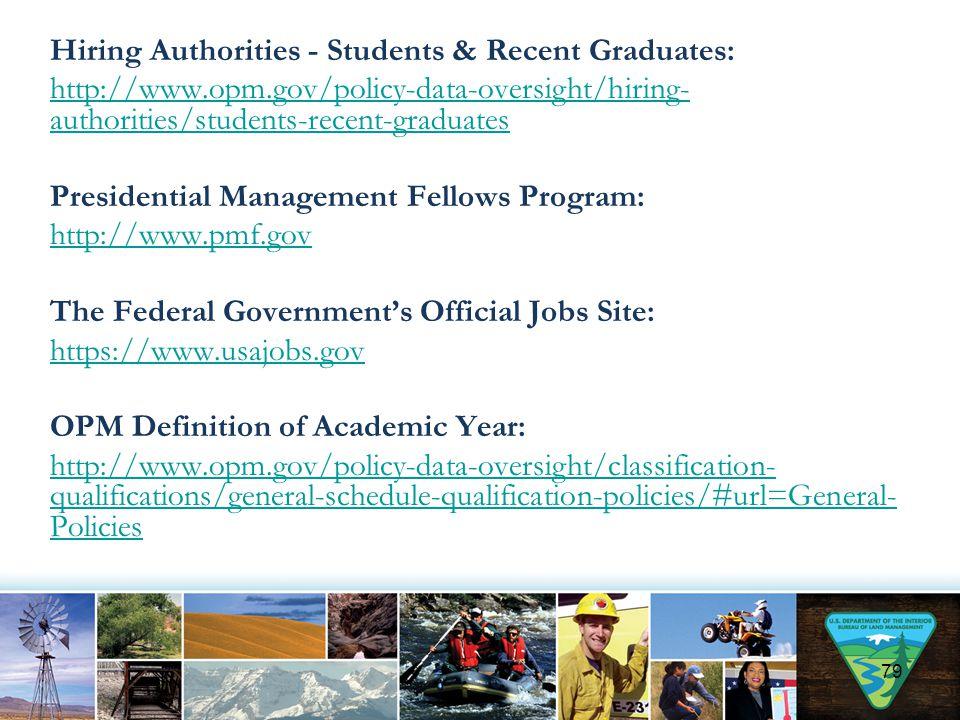 Hiring Authorities - Students & Recent Graduates: