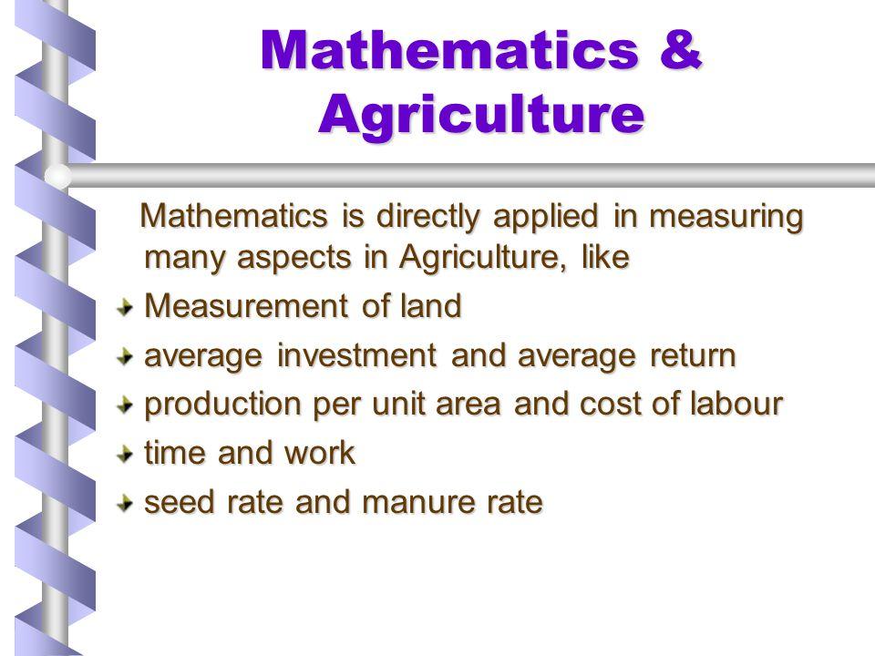 Mathematics & Agriculture