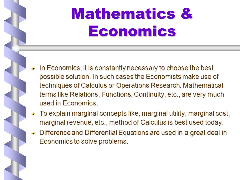Mathematics & Economics