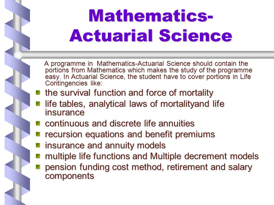 Mathematics- Actuarial Science