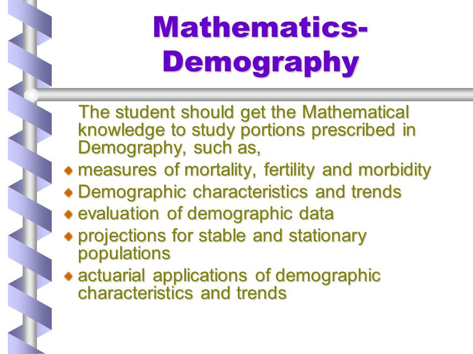 Mathematics- Demography