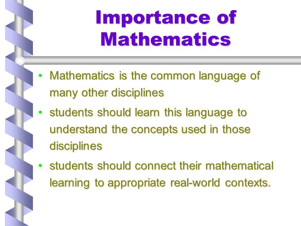 Importance of Mathematics