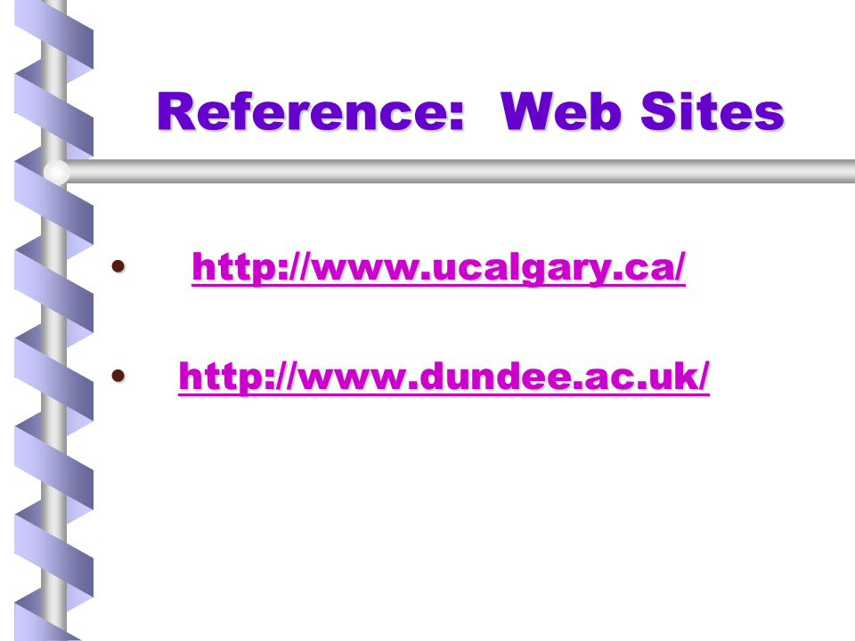 Reference: Web Sites