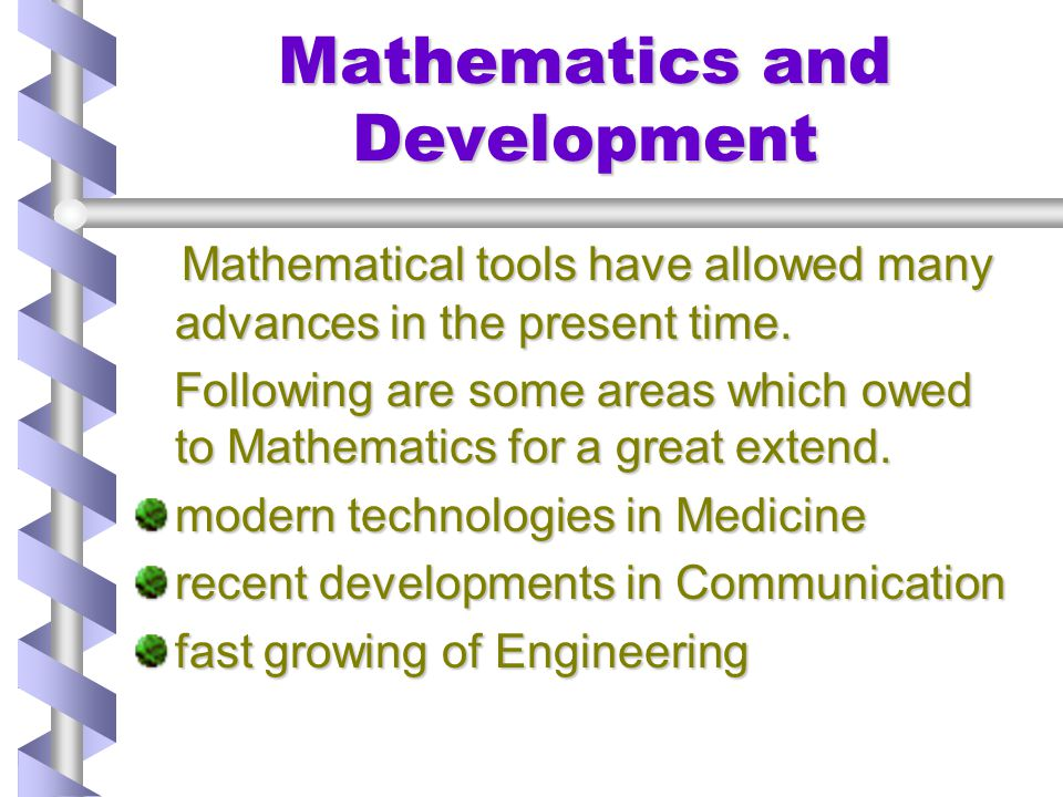 Mathematics and Development