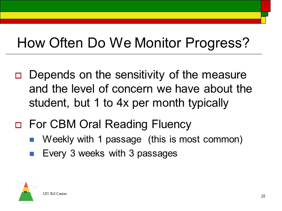 How Often Do We Monitor Progress