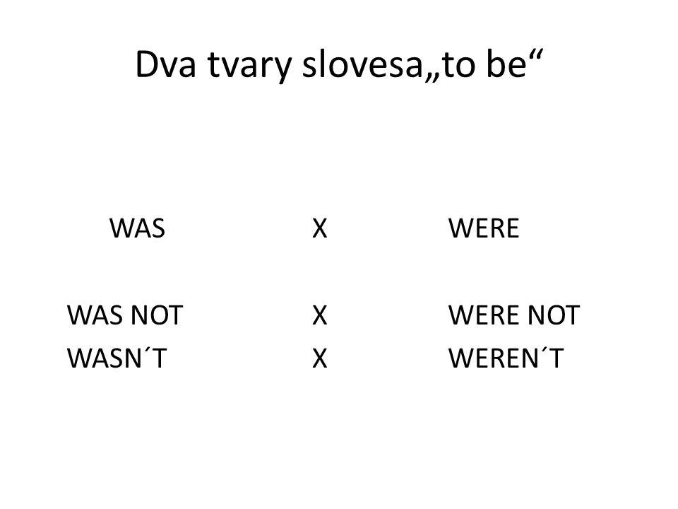 """Dva tvary slovesa""""to be"""