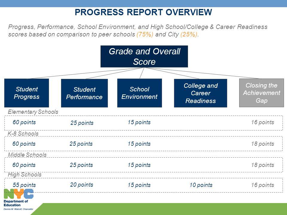 Progress Report overview