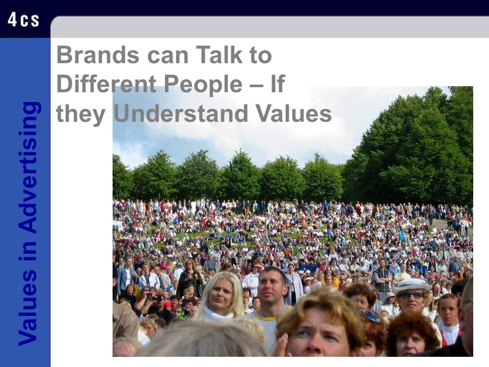 Brands can Talk to Different People – If they Understand Values