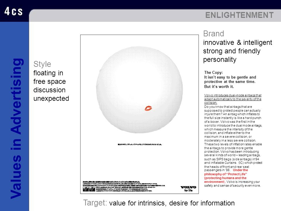 Target: value for intrinsics, desire for information