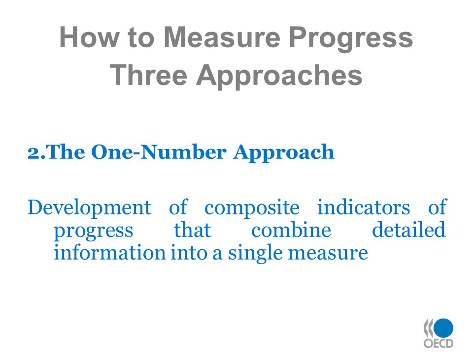 How to Measure Progress