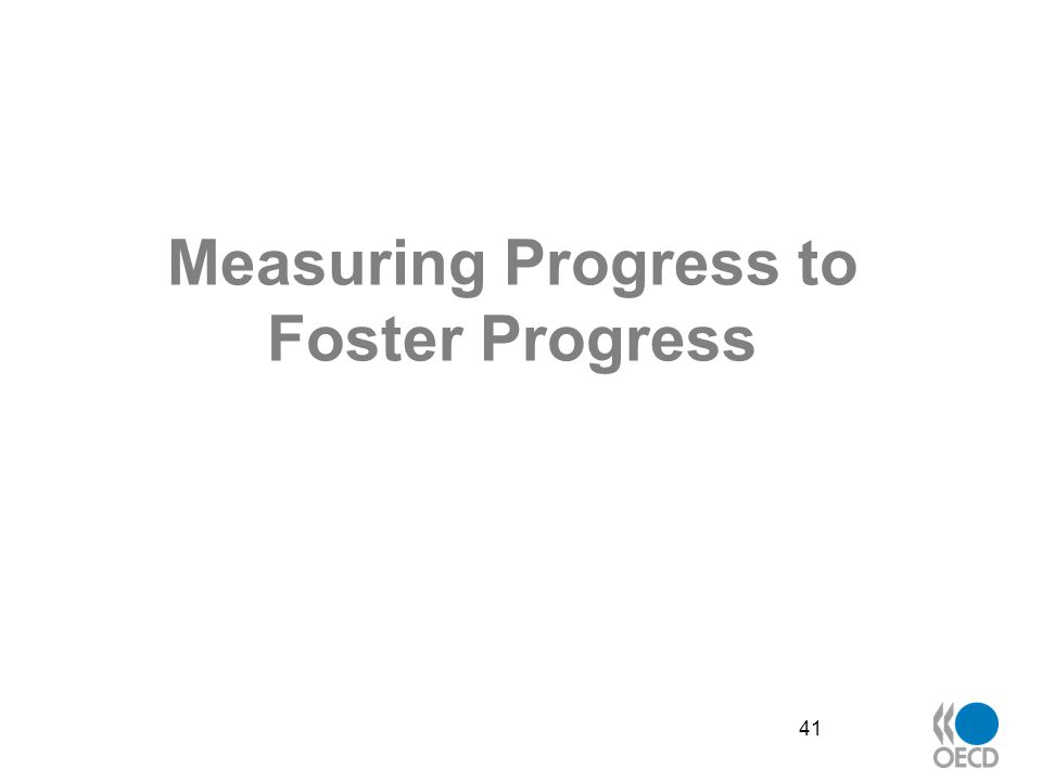 Measuring Progress to Foster Progress