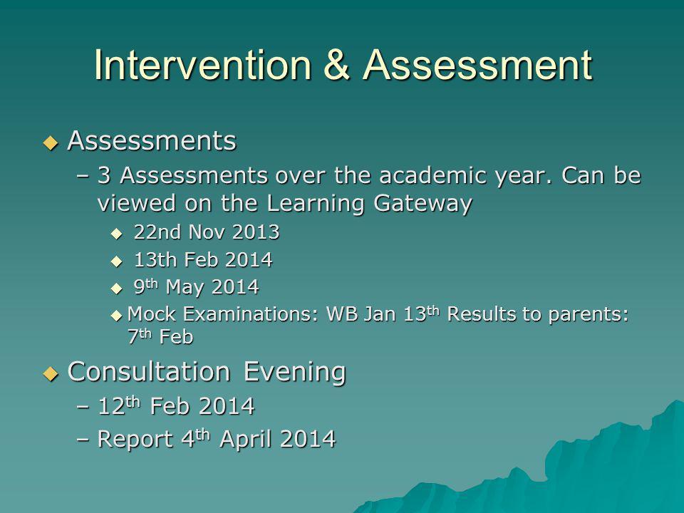 Intervention & Assessment