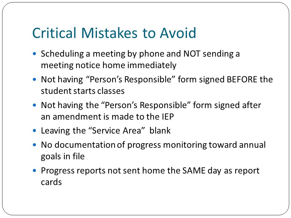 Critical Mistakes to Avoid