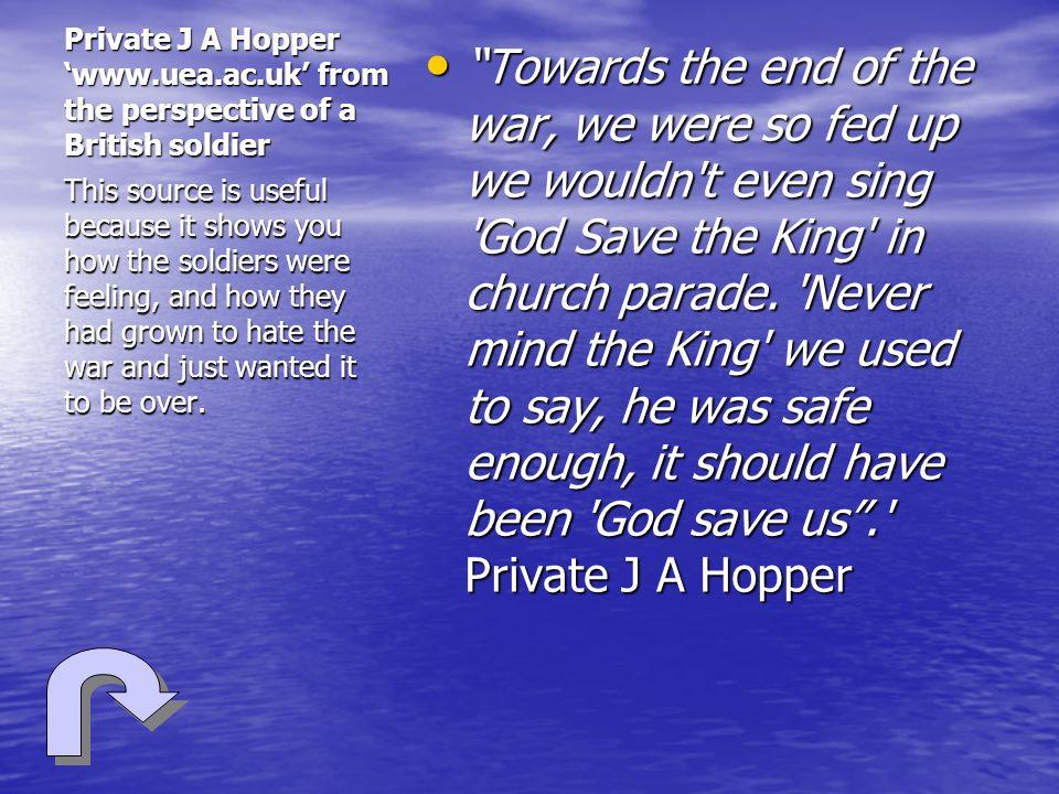 Private J A Hopper 'www. uea. ac