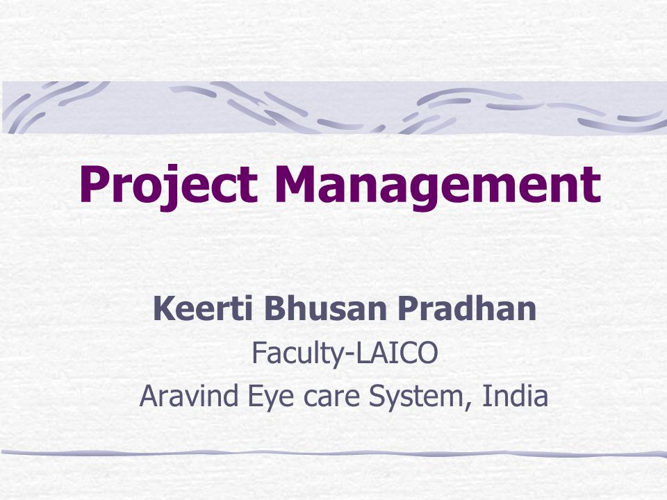 Keerti Bhusan Pradhan Faculty-LAICO Aravind Eye care System, India