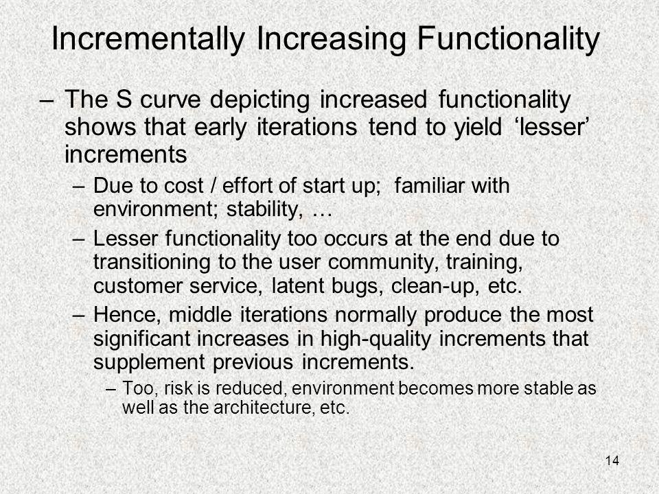Incrementally Increasing Functionality