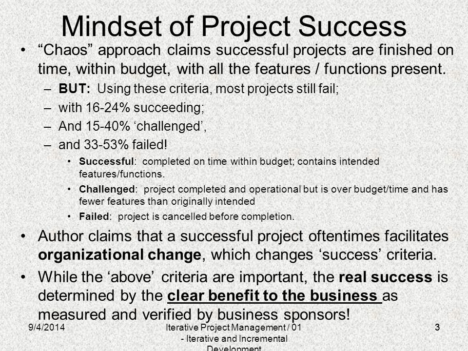 Mindset of Project Success