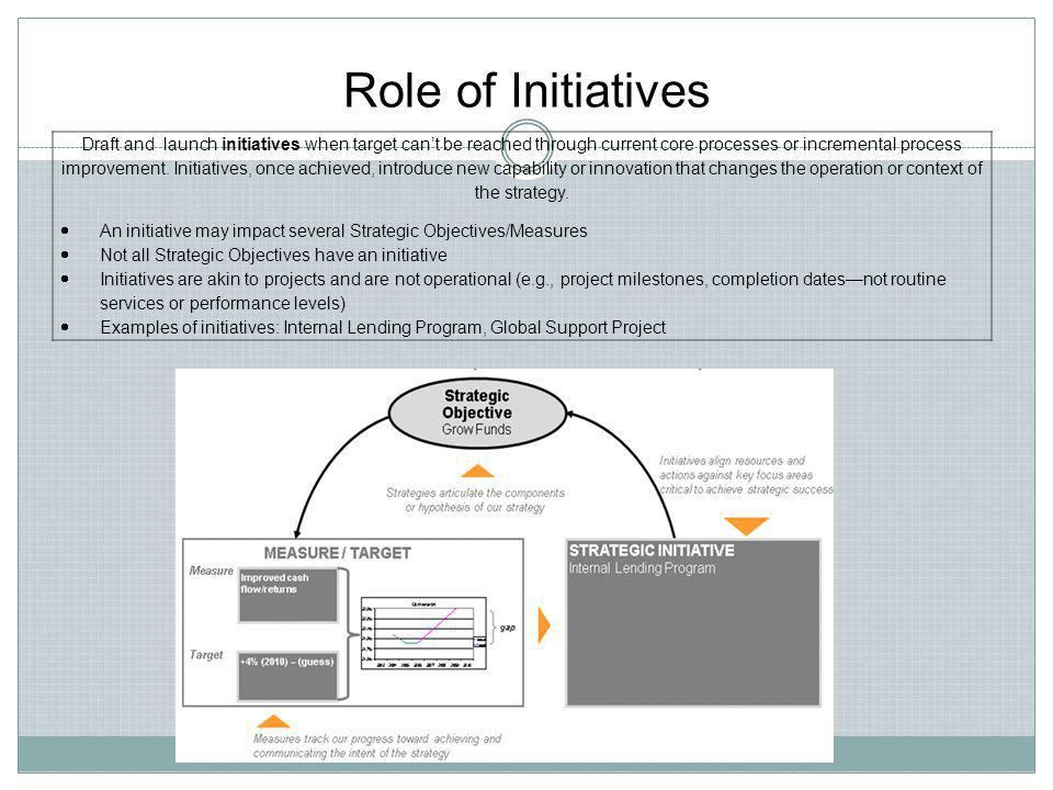 Role of Initiatives
